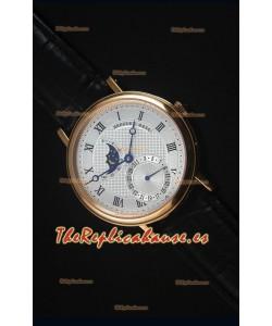 Breguet Classique Moonphase Reloj Replica Suizo de Oro Rosado