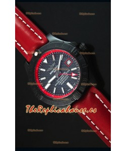 Breitling Chronometre GMT Dial de Carbón Reloj Replica Suizo caja con Revestimienvo en PVD