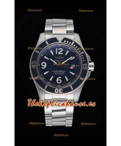 Breitling Superocean Automatic 44 Steel - Reloj Réplica a Espejo 1:1 Dial Azul Marino