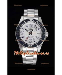 Breitling Superocean Automatic 44 Reloj de Acero Réplica a Espejo 1:1 Dial Blanco