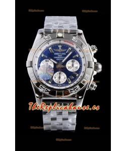 Breitling Chronomat B01 Dial Azul Reloj Suizo de Acero 904L Reloj Réplica a Espejo 1:1