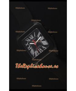 Cartier Santos DLC Reloj Replica Suizo 38.5MM