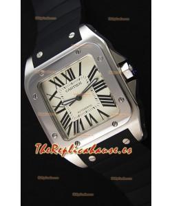 Cartier Santos De Cartier Reloj Réplica a Espejo 1:1 39MM Correa de Goma
