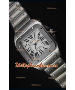 Cartier Santos 100 42MM Reloj Carcasa Suiza con Movimiento Japonés