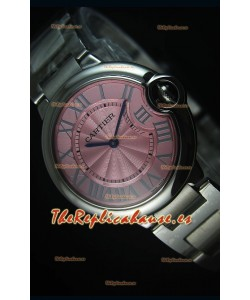 Ballon De Bleu Reloj Dial Rosado 36MM con Movimiento de Cuarzo Suizo