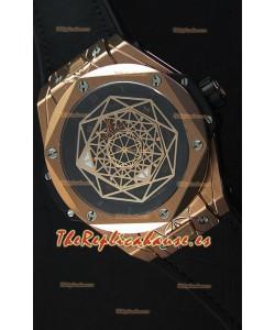 Hublot Big Bang Sang Bleu 45MM Reloj Réplica Suizo en Oro Rosado