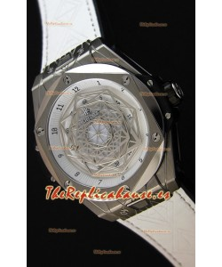 Hublot Big Bang Sang Bleu 45MM Reloj Réplica Suizo de Acero Inoxidable Dial Blanco
