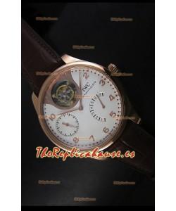 IWC Portugieser Tourbillon Reloj de Oro Rosado en Dial Blanco