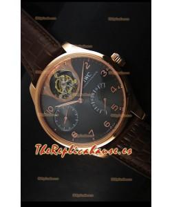 IWC IW504602 Portugieser Reloj de Oro Rosado en Dial Gris