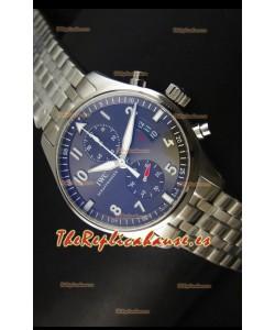 IWC IW387802 Pilot Chronograph Reloj Replica a escala 1:1 con Brazalete de Acero