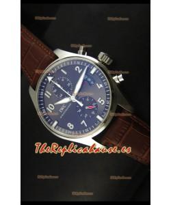 IWC IW387802 Pilot Chronograph Reloj Replica a escala 1:1 con Correa de Piel