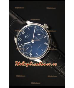 IWC IW500703 Portugieser Reloj Suizo Replica a escala 1:1 Dial Negro - Versión 2016 Actualizada