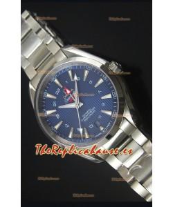 Omega Seamaster COAX GMT Reloj Suizo de Acero Inoxidable Dial Azul