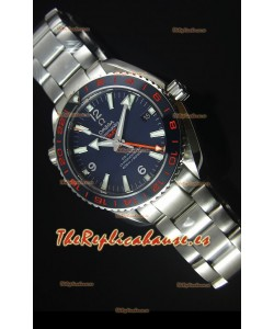 Omega Seamaster Planet Ocean 600M GMT Good Planet Reloj Replica Suizo escala 1:1