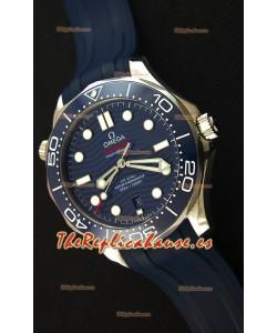 Omega Seamaster 300M Co-Axial Master Chronometer AZUL Reloj Réplica Suizo a Espejo 1:1