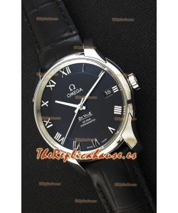 Omega De-Ville Annual Calendar Co-Axial Reloj Réplica Suizo a espejo 1:1 Edición en Dial Negro