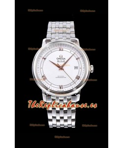 Omega De Ville Prestige Co-Axial 36.8MM Dial Blanco Reloj Réplica Suizo a Espejo 1:1