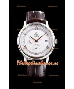 Omega De Ville Prestige Power Reserve Reloj Réplica Suizo a Espejo 1:1 Acero 904L Dial Blanco