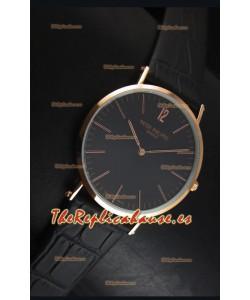 Patek Philippe Calatrava Ulta -Thin Reloj Cuarzo Suizo Caja de Oro Rosado