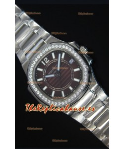 Patek Philippe Ladies Nautilus Reloj de Acero Inoxidable 36MM