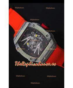 Richard Mille RM027 Tourbillon Reloj Suizo Edición Rafael Nadal Caja de Carbón Forjado