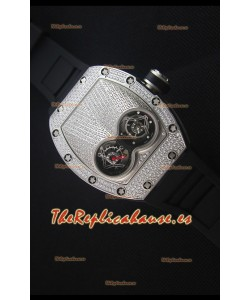 Richard Mille RM053 Tourbillon Pablo Mac Donough Reloj Replica Suizo Caja en Titanio Correa Negra