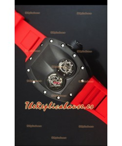 Richard Mille RM053 Tourbillon Pablo Mac Donough Reloj Replica Suizo caja con Revestimiento PVD