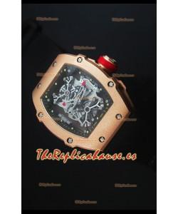 Richard Mille RM027 Tourbillon Edición Rafael Nadal Reloj Suizo en Oro Rosado de 18K