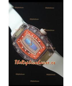 Richard Mille RM07-02 Sapphir Ladies Reloj Replica Suizo Dial en Azul Perla