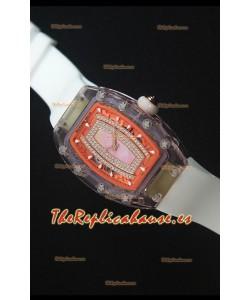 Richard Mille RM07-02 Sapphir Ladies Reloj Replica Suizo Dial en Rosado Perla