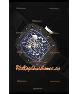 Richard Mille RM035-2 Rafael Nadal Caja de Carbón Forjado con Corona Blanca