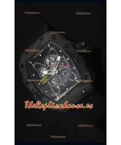 Richard Mille RM35-01 Reloj Replica Suizo Edición Rafael Nadal Correa de Nylon color Negro