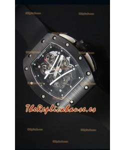 Richard Mille RM061 Reloj Replica Caja de Cerámica Bisel de color Negro