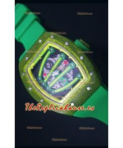 Richard Mille RM059 Reloj Replica Suizo Edición Yohan Blake en Dial color Amarillo