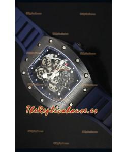Richard Mille RM055 Reloj con Caja de Cerámica con Interior del Bisel en Azul