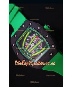 Richard Mille RM059 Yohan Blake Reloj Replica Suizo Caja en Carbón Forjado Bisel en Verde