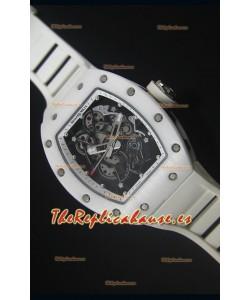 Richard Mille RM055 Reloj con Caja en Cerámica color Blanco con parte Interna del Bisel en color Blanco