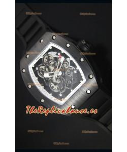 Richard Mille RM055 Reloj con Caja en Cerámica con parte Interna del Bisel en color Blanco