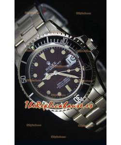 Rolex Submariner 1680 Edición Vintage Dial color Café Reloj con Movimiento Japonés