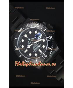 Rolex Submariner Blaken PVD Reloj Replica Suizo