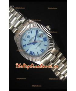 Rolex Day Date Dial Azul Claro Reloj Replica 40MM - Movimiento Suizo 3255