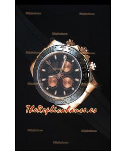 Rolex Daytona 116515 Everose Reloj Replica a Espejo 1:1 Dial Negro