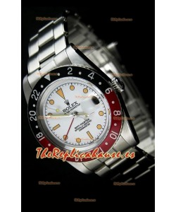 Rolex GMT Master Vintage Edition Reloj Replica Suizo edici{on Vintange Dial Blanco