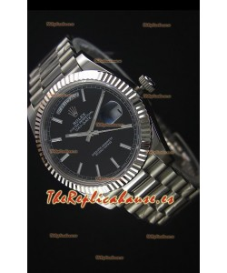 Rolex Day-Date Reloj Replica Acero Inoxidable 40MM Movimiento Suizo 2836-2