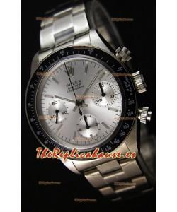 Rolex Daytona Vintage Steel Dial Reloj Réplica Suizo- Reloj de Acero 904L
