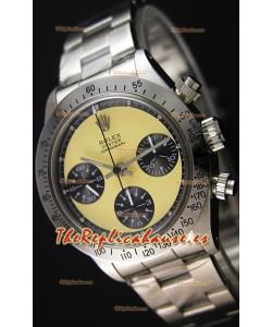 Rolex Daytona Vintage REF 6264 Dial Blanquecino Reloj Réplica Suizo- Reloj de Acero 904L