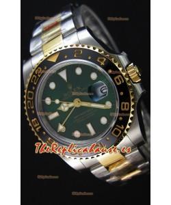 Rolex GMT Masters II Reloj Oro Amarillo de Dos Tonos con Dial Verde