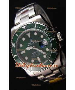 Rolex Submariner The Hulk ETA 3135 Replica a Espejo 1:1 - Reloj Ultimate de Acero 904L