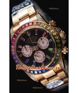 Rolex Cosmograph Daytona 116595RBOW Cal.4130 Movement - Reloj Acero 904L Oro Rosado a Espejo 1:1