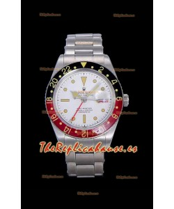 Rolex GMT Master ALBINO Edition Vintage Reloj Suizo en Dial Blanco